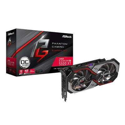 PLACA DE VIDEO VGA PCI-E 8GB RX5500XT RADEON GAMING ASROCK